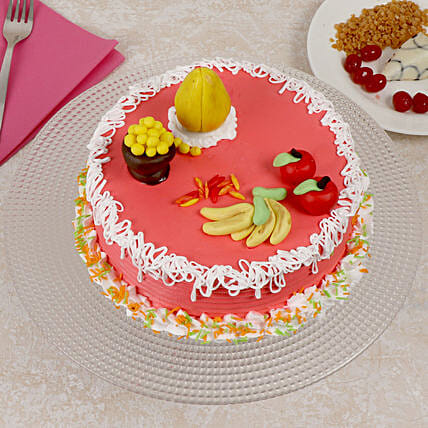 Ganesh Chaturthi Cake: Fresh Fruit Cakes