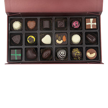 Assorted Chocolates In Designer Box: Homemade Chocolate Gifts