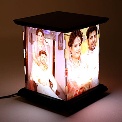 Wooden Personalized LED Lamp: Gifts for Wedding