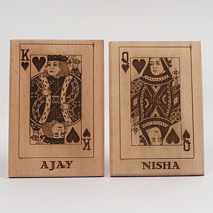 King & Queen Wooden Plaques: Personalised Engraved