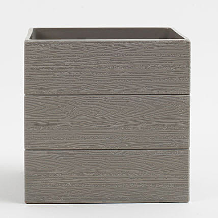 Grey Textured Melamine Vase: Pots for Plants