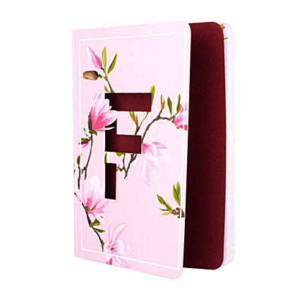 Doodle Initial Diary Pink: Personalised Stationery