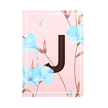 Floral Pink Doodle Initial Diary: