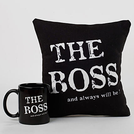 The Boss Cushion & Mug Combo: