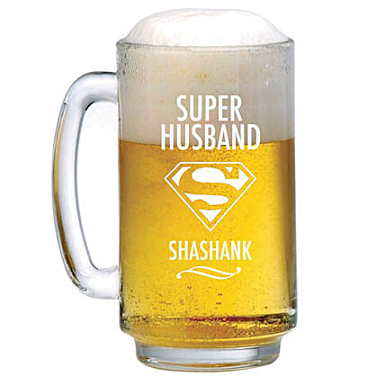 Personalised Beer Mug 1079: Personalised Beer Glasses