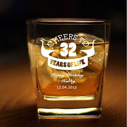 Personalised Set Of 2 Whiskey Glasses 1064: Personalised Glassware
