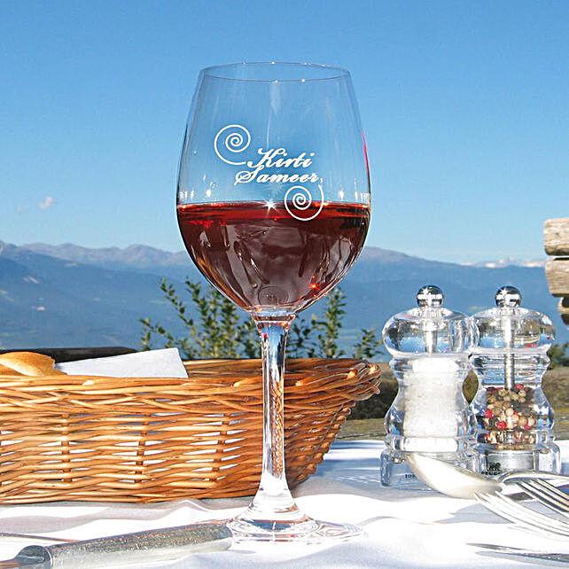 Personalised Set Of 2 Wine Glasses 1026: