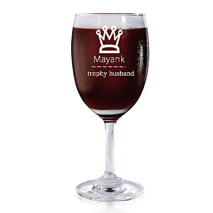 Personalised Set Of 2 Wine Glasses 2176: Bar Accessories