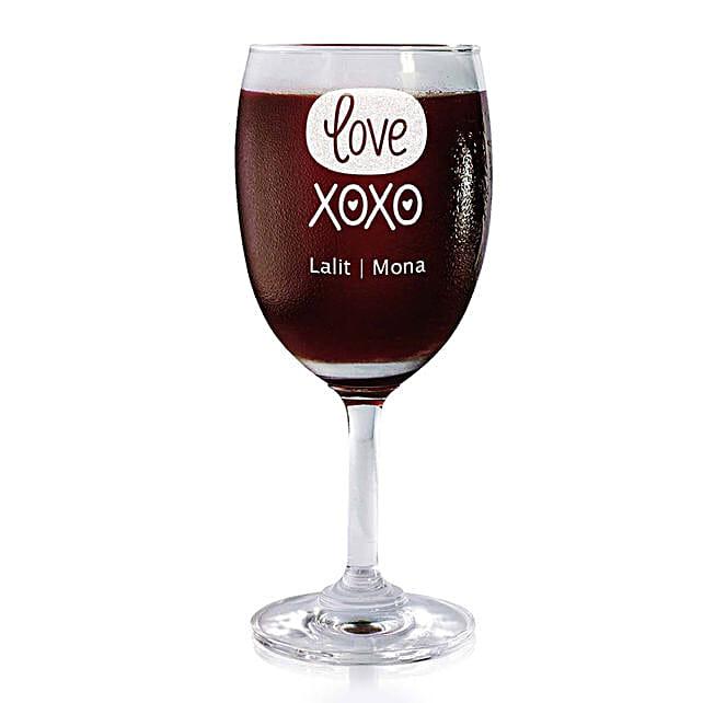 Personalised Set Of 2 Wine Glasses 2190:
