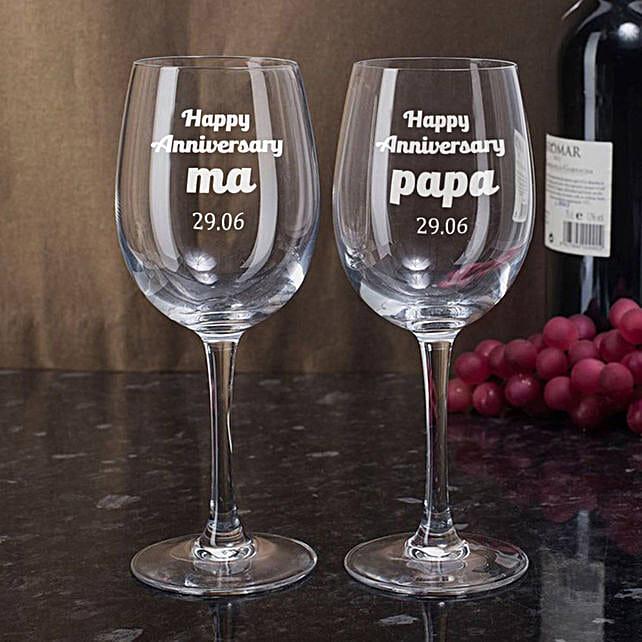 Personalised Set Of 2 Wine Glasses 2899: Personalised Wine glasses