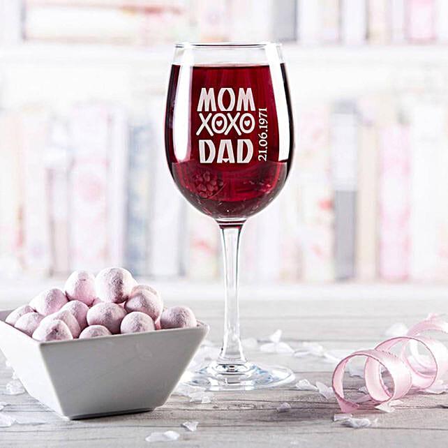 Personalised Set Of 2 Wine Glasses 2900:
