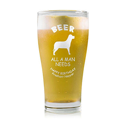 Personalised Beer Glass 1460: