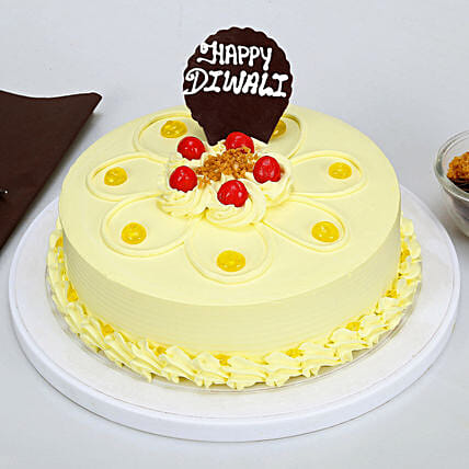 Happy Diwali Butterscotch Cake: Send Gifts to Raichur