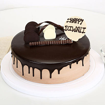 Happy Diwali Chocolate Cake: Gifts to Raichur