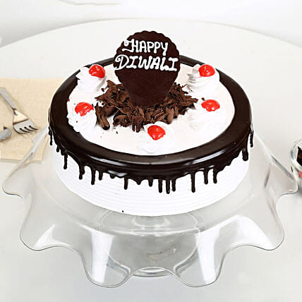 Happy Diwali Black Forest Cake: Send Gifts to Raichur