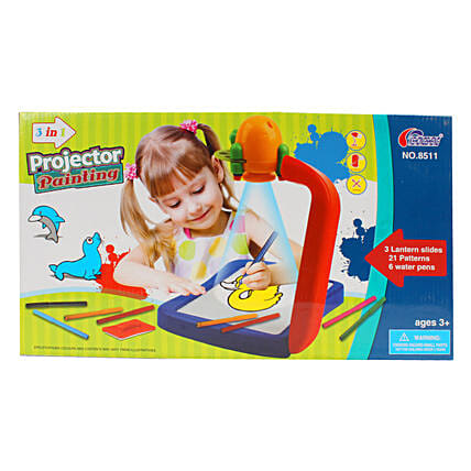 3 In 1 Projector Painting Set: Kids Toys & Games