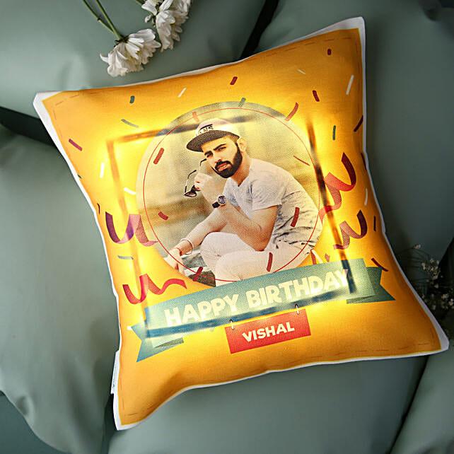 Personalised Birthday LED Cushion: Buy Cushions