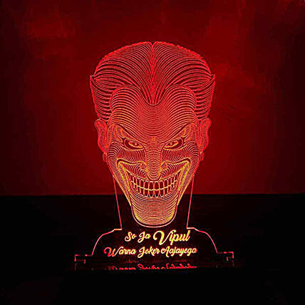 Personalised Red LED Joker Lamp: