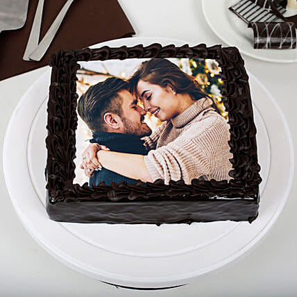 Rich Chocolate Photo Cake: Photo Cakes