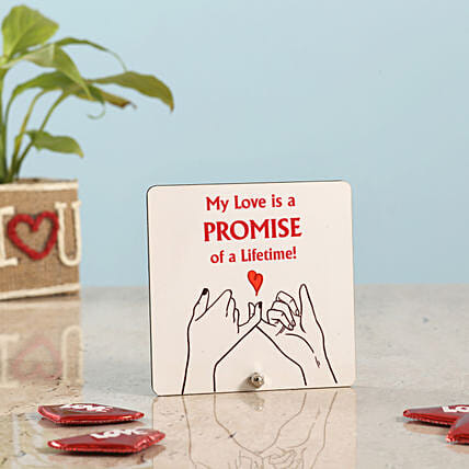 Happy Promise Day Table Top: Table tops Gifts