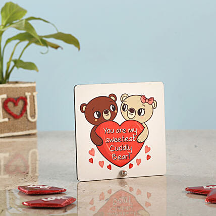 Happy Teddy Day Table Top: Table tops Gifts