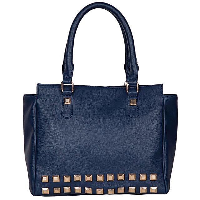 Pursues Pickey Entrancing Handbag- Dark Blue: Handbags and Wallets