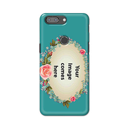 One Plus 5T Customised Floral Mobile Case: Personalised One Plus Mobile Covers