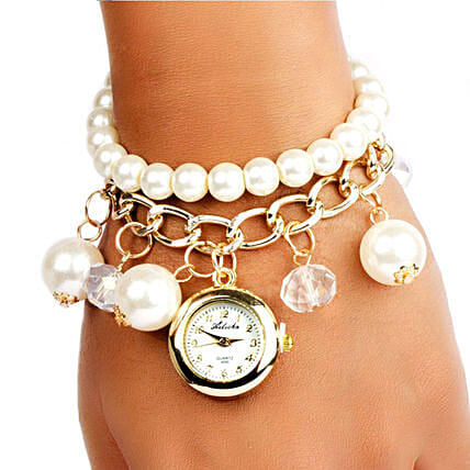 Pearl Charm Watch: Watches