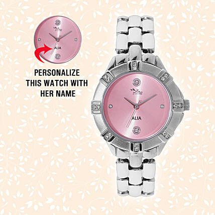 Personalised Pretty Silver Watch: