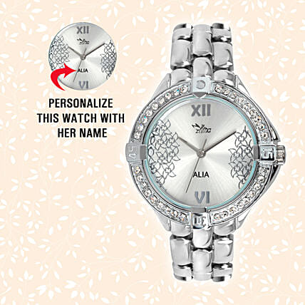Personalised Sparkling Silver Watch: Personalised Accessories