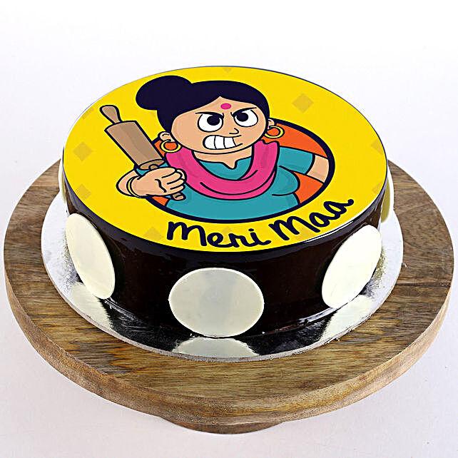 Meri Maa Chocolate Photo Cake: Mothers Day Cakes