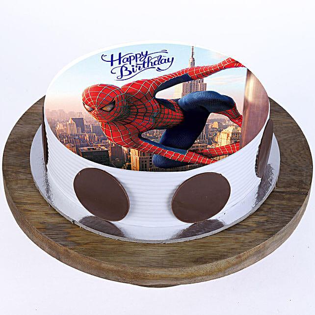 Spiderman Photo Cake: Super Hero Themed Cakes
