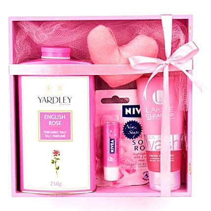 Refreshing Pink Hamper: Gifts for 25Th Anniversary