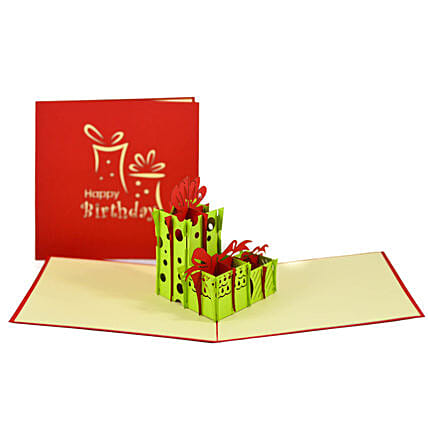 Handmade 3D Pop Up Gift Boxes Card: Greeting Cards