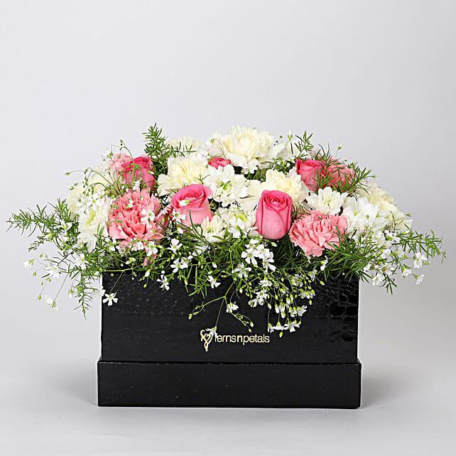 The Dainty Floral Box Arrangement: Mixed flowers
