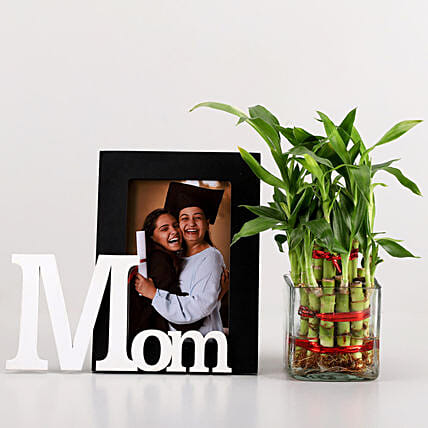 2 Layer Bamboo & Mom Photo Frame Combo: