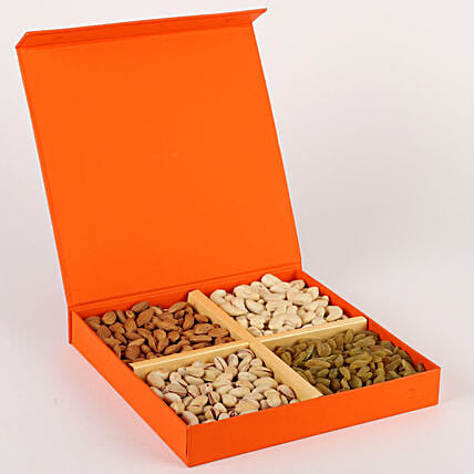 FNP Special Dry Fruits in Orange Box: Dry Fruits Gift Packs