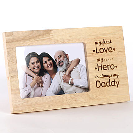 My Daddy My Hero Personalised Photo Frame: Fathers Day Photo Frames