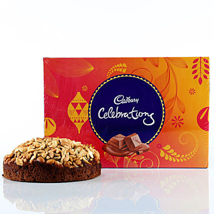 Cashew Cake & Cadbury Celebrations Combo:
