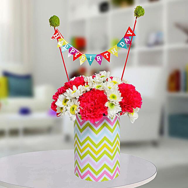 Special Birthday Vase Arrangement: Vase Arrangements
