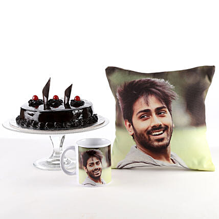 Photo Cushion, Mug & Cake Combo For Him/Her: Buy Cushions