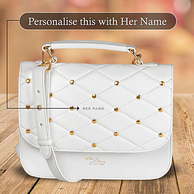 Elegant White Sling Bag:
