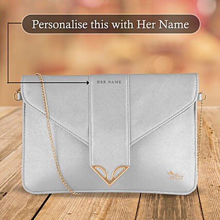 Fashionable White Sling Bag: Personalised Accessories