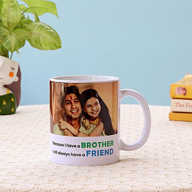 Best Brother White Mug: Personalised Mugs for Bhai Dooj