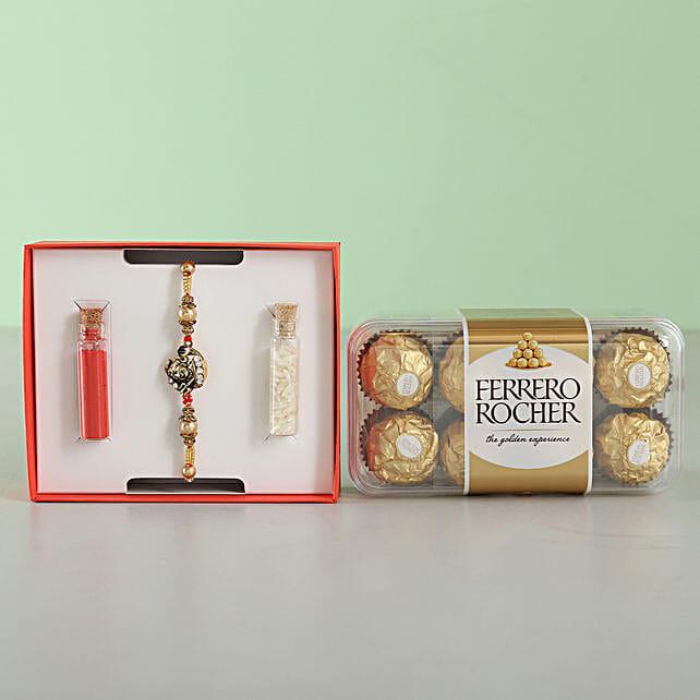 Designer Shivji Rakhi & Ferrero Rocher: Rakhi Gifts