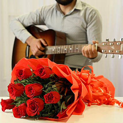 Red Roses & Romantic Tunes Combo: