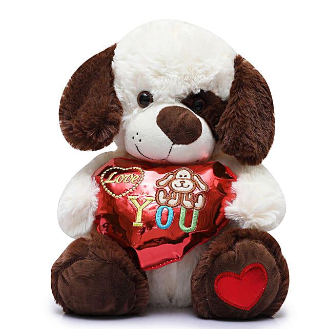 Sweet Love Dog Soft Toy: Send Soft Toys