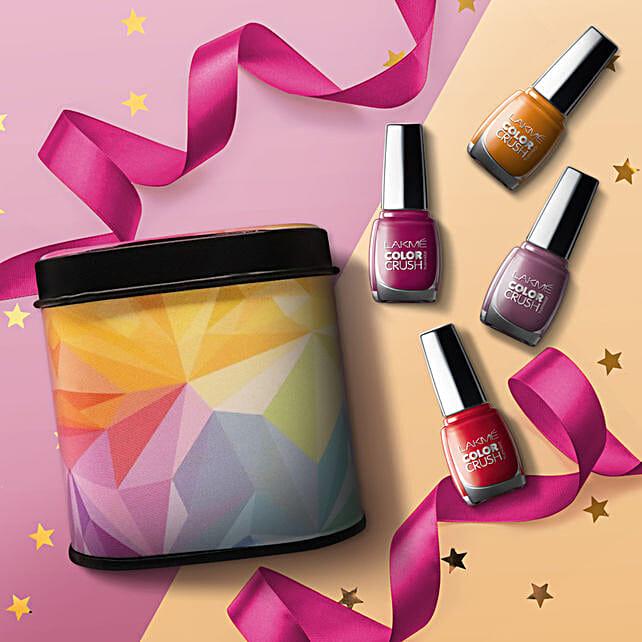 Lakme Color Crush Nail Paint Box: Cosmetics & Spa Hampers