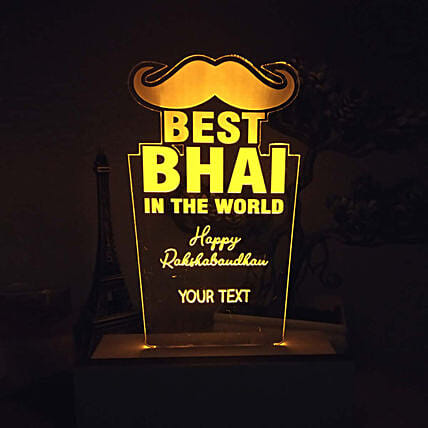 Personalised Night Lamp For Bhai: Personalised Lamps