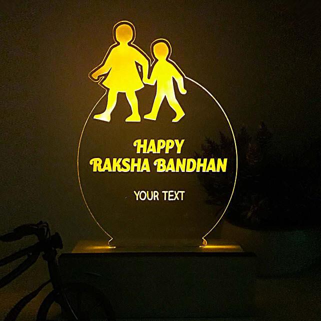 Personalised Night Lamp For Raksha Bandhan: Personalised Lamps